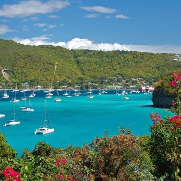 View of Admiralty Bay on Bequia Island