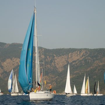 Sailboat race in marmaris, Turkey